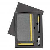 Набор FANCY:универсальное зарядное устройство(2200мAh), блокнот и ручка в подарочной коробке - 20217