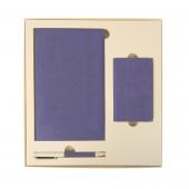 Набор подарочный PROVENCE; универсальное зарядное устройство(4000мАh), блокнот и ручка - 20220